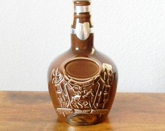 Vintage Ceramic Chivas Bottle in Brown
