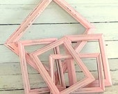 Instant empty frame collection Wedding Centerpiece Wedding Decoration Vintage painted light pink blush shabby cottage Ready to Ship