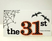 Halloween Card, October 31st Halloween Card, Polka Dot Halloween Card,