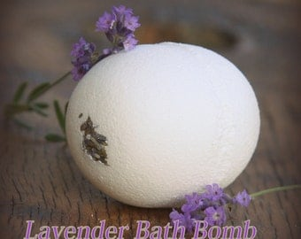 Organic Lavender Delight Bath Bomb Delux Playful  eco-friendly Vegan Fizzy