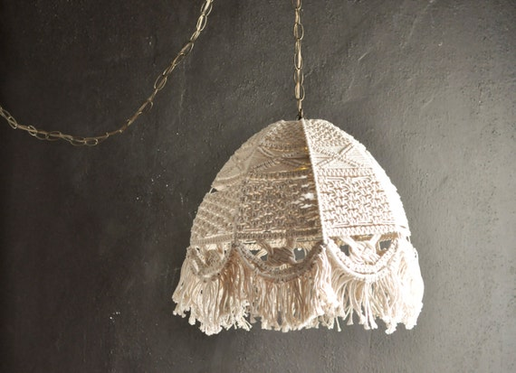 Vintage Swag Lamp Macrame Hanging Light by drowsySwords on ...