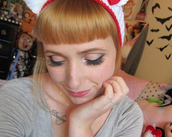 Bow Kitty Headband Ear Warmer