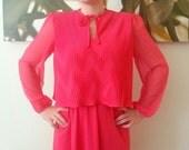 SALE! // Watermelon Sherbet Pink Disco Dress- S