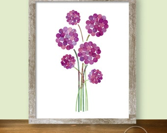Alliums in Purple Digital Garden Print