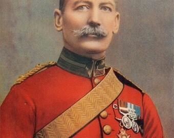 1900, Major-General John Baillie Ballantyne Dickson, Antique Print, Army Colonial 104, Gift for Him, Uniform, Frameable Army Print