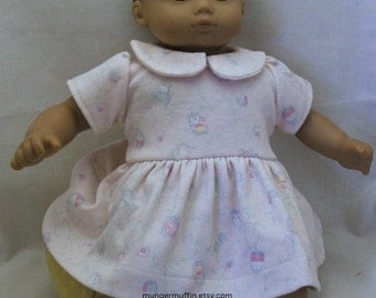 Soft knit dress fits Bitty baby and other 16 inch baby dolls