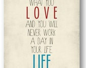 Quote / Work / Life / DIGITAL Typography Poster