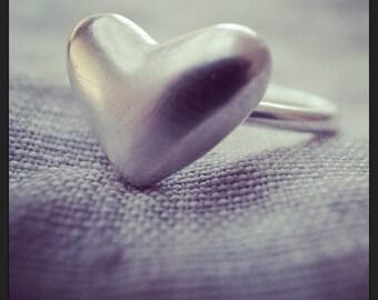 heart stack ring - 10 gauge - heart 2