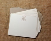 Vintage Bird Stationery, Thank You Notes, Rustic Stationery -  Set of 6 cards and envelopes