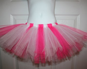 Birthday Fuchsia pink and white tutu 12m 18m 2t 3t 4t 5t Party costume