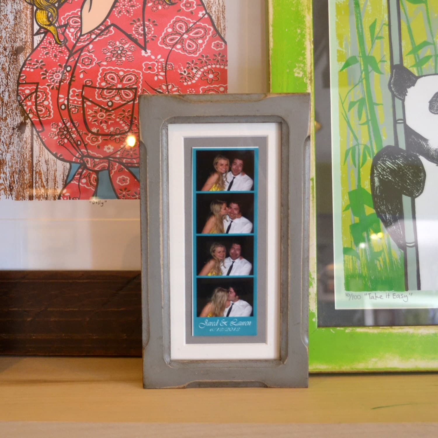 Black And Gold Photo Booth Frame