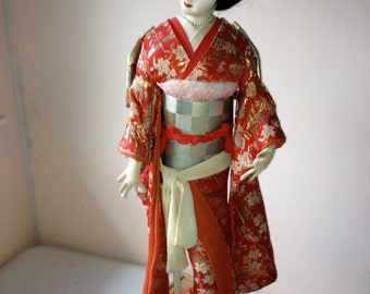 Vintage Japanese GEISHA DOLL Madam Butterfly