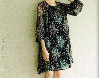 Formal Dress Patterns,  Yoshiko Tsukiori - Japanese Sewing Pattern for Women Clothing - Simple, Elegant Design - Easy Sewing Tutorial, B1223