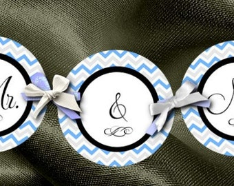 Party Decoration, Bunting, Banner, Chevron Stripes, Wedding, Bridal Shower, Baby Shower, Birthday Party,Lots of Colors