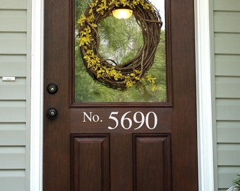 Number Decal for Front Door - Address Decal - Outdoor Decal - 3