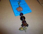 Purse Jewelry  Or  Zipper Pull   Stone Native Animal       Free Shipping in the USA