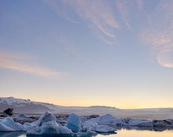 Glacial Lagoon, 8x12 Fine Art Photograph (Z0160)