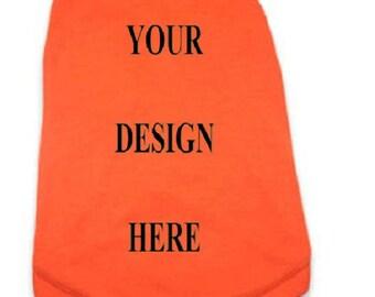 Dog T-Shirt - Custom Tee Shirt - Orange