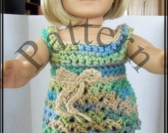 Crochet Pattern: Babydoll Smock for American Girl and similar 18 inch dolls