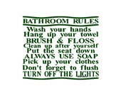 Bathroom Rules - Wall Decal - Vinyl Wall Decals, Wall Decor, Wall Quotes, Bathroom Wall Decal, Kids Bathroom Decal