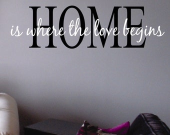 Home Decal, Vinyl Wall Lettering, Vinyl Wall Decals, Vinyl Letters, Vinyl Lettering, Wall Quotes, Love Decal, Family Decal