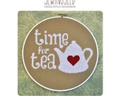 Time for Tea Cross Stitch Pattern Instant Download