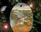 Pumpkin Faerie Charm / Ornament