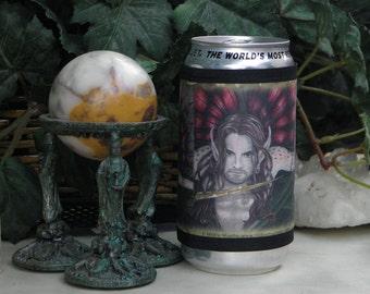 Wrap Beverage Insulator with Crimson Wings Fairy Art