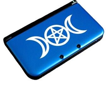 """Triple Moon Decal / Moon Laptop Sticker / Triple Goddess Car Sticker / Moon Laptop Decal / Triple Moon iPad Sticker / 1.25""""h x 3""""w / #220"""