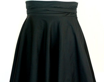 "Size 26 -38 Plus Size High Waist Wrap Skirt  28"" L"