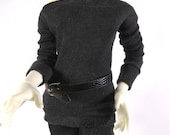 Black Wide Neck Shirt for MSD SD+ Ball Jointed Doll