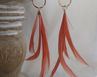 Gossamer earring in Dusty Peach