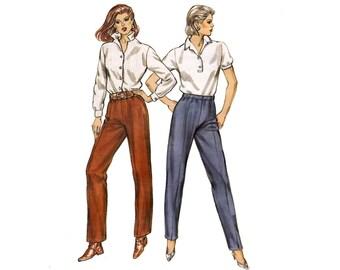 Womens High Waist Stretch Pants 1980s Sewing Pattern Kwik Sew 1399 Sizes 6 - 14 UNCUT FF