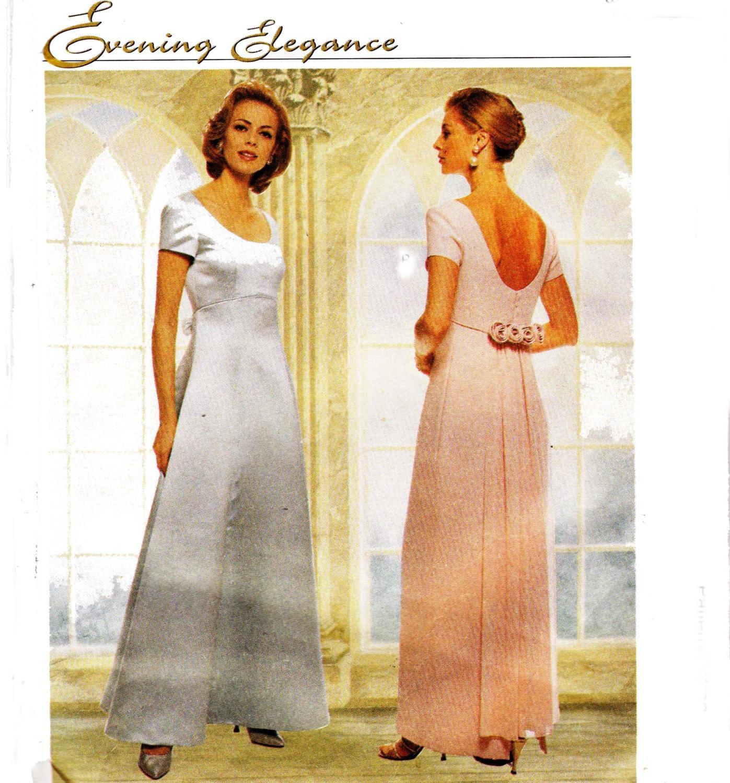 Mccalls 8836 empire waist maxi dress bridal gown prom dress for Empire waist wedding dress patterns