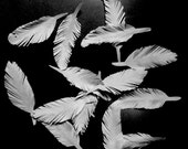 100 Handmade Paper Feathers For Your Craft and Art Projects