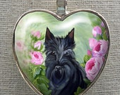 Scottie Heart Necklace ~ Scottish Terrier ~ Girlfriend Gift ~ Gifts Under 10 ~ Trending Items ~ Dog Necklace
