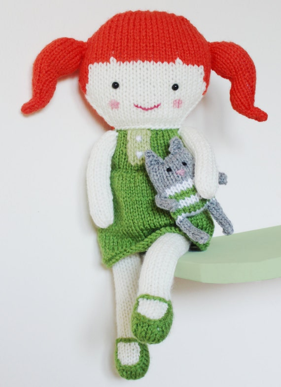 Knitting Pattern Large Rag Doll : Doll Knitting Pattern Toy Rag Doll Pattern PDF Olive & by ...