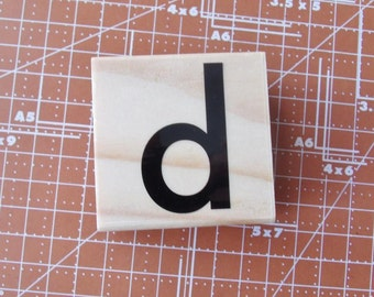 Lowercase D Rubber Stamp