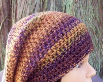 womens hat ladies crochet slouch hat girls crochet slouch hat adobe copper navy blue rust youth adult 6586