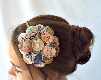 Traveling and Such Daisy Paper Mache Headband