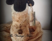 Primitive Sheep Simplify Easter Folk Art Home Decor Shelf Sitter HAFAIR, OFG, AB4B, promooasis