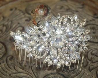 Bridal Hair Comb - Wedding Hair Comb- Wedding Hair Accessories-Rhinestone Bridal Comb-Crystal Wedding Comb-Bridal Headpiece