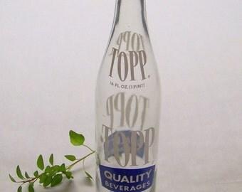 Vintage Soda Bottle, Topp Quality Beverages 16 Oz Tasty-Mates, Camden New Jersey 1971