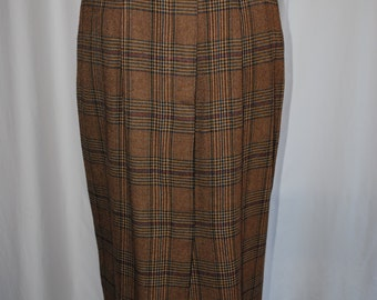 Womens Glen Plaid Menswear Skirt by Ruff Hewn