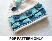 Knit Hat Knitting Pattern - Fish Hat Pattern - the CHARLIE Hat (Newborn Baby Toddler Child & Adult sizes incl'd)