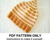 Knitting Pattern - Pixie Hat Pattern - the JAMIE Hat (Newborn, Baby, Toddler, Child & Adult sizes incl'd)