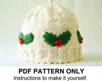 KNITTING PATTERN FOR BABY CHRISTMAS HAT   KNITTING PATTERN