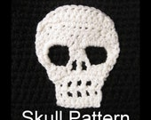 Skull Pattern Crochet Applique Motif Gothic DIY Make It Yourself