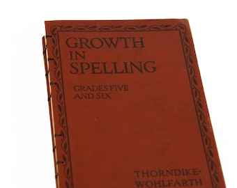 1929 SPELLING Notebook Journal