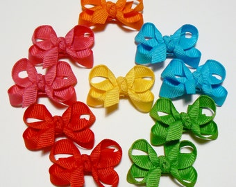 Girls Infant Hair Bow Set Little Hair Bows Baby Bows Infant Hair Bows Tiny Hair Bows Newborn Infant Bows Hairbows hair clips (Set of 10)